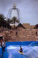 Vereinigte arabische Emirate (VAE, UAE), Dubai, Wasserpark Wild Wadi, Hotel Burj al Arab