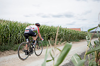 Remy Mertz (BEL/Lotto Soudal) over  the Plugstreets Gravel Sections. <br /> <br /> <br /> 1st Great War Remembrance Race 2018 (UCI Europe Tour Cat. 1.1) <br /> Nieuwpoort > Ieper (BE) 192.7 km