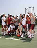 STANFORD, CA - SEPTEMBER 15:  Ashley Cimino, Kayla Pedersen, Sarah Boothe, JJ Hones, Melanie Murphy, Jayne Appel, Hannah Donaghe, Grace Mashore, Michelle Harrison, Jeanette Pohlen, Nneka Ogwumike and Lindy La Rocque during a photo shoot on September 15, 2008 in Stanford, CA.