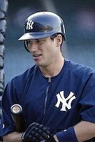 Robin Ventura of the New York Yankees before a 2002 MLB season game against the Los Angeles Angels at Angel Stadium, in Anaheim, California. (Larry Goren/Four Seam Images)