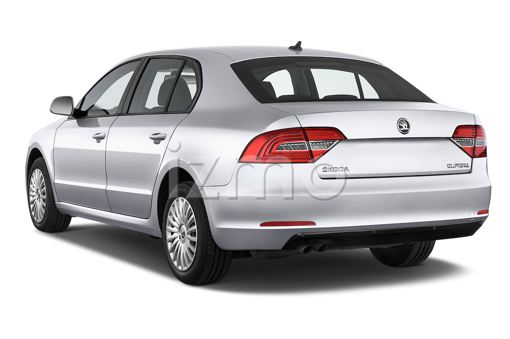 Car pictures of rear three quarter view of a 2014 Skoda SUPERB Active 5 Door Hatchback 2WD Angular Rear