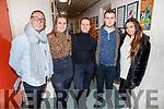 Kerry Fleming, Doireann O'Carroll, Ciara Kelly, Marcus Nolan and Clodagh Harrington, attending the Kerry School of Music annual Born to Dance Show in Siamsa Tire on Sunday.