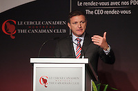 Marc Parent, President & CEO of CAE Inc deliver a speech to the Canadian Club of Montreal<br />