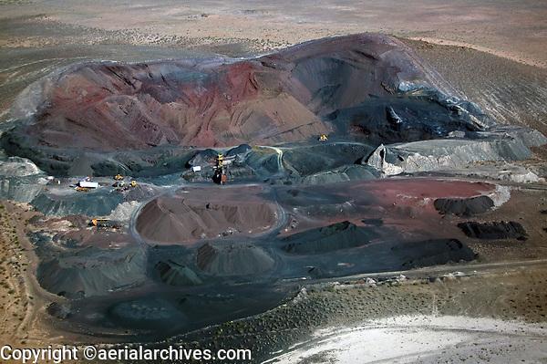 aerial photograph of an Arizona strip mine