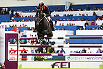 Equestrian - Showjumping - Meydan FEI Nations Cup.William Funnell (GBR) aboard Billy Congo in action during the Meydan FEI Nations Cup at the Royal Dublin Society (RDS) in Dublin.