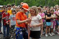 School Children attend the Hot Springs 2008 Arbor  Day celebration.  They learn about trees, forests, wildlife and recycling with hands on exhibits.