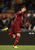 Football, Serie A: AS Roma - US Sassuolo, Olympic stadium, Rome, December 26, 2018. <br /> Roma's Patrik Schick celebrates after scoring during the Italian Serie A football match between Roma and Sassuolo at Rome's Olympic stadium, on December 26, 2018.<br /> UPDATE IMAGES PRESS/Isabella Bonotto