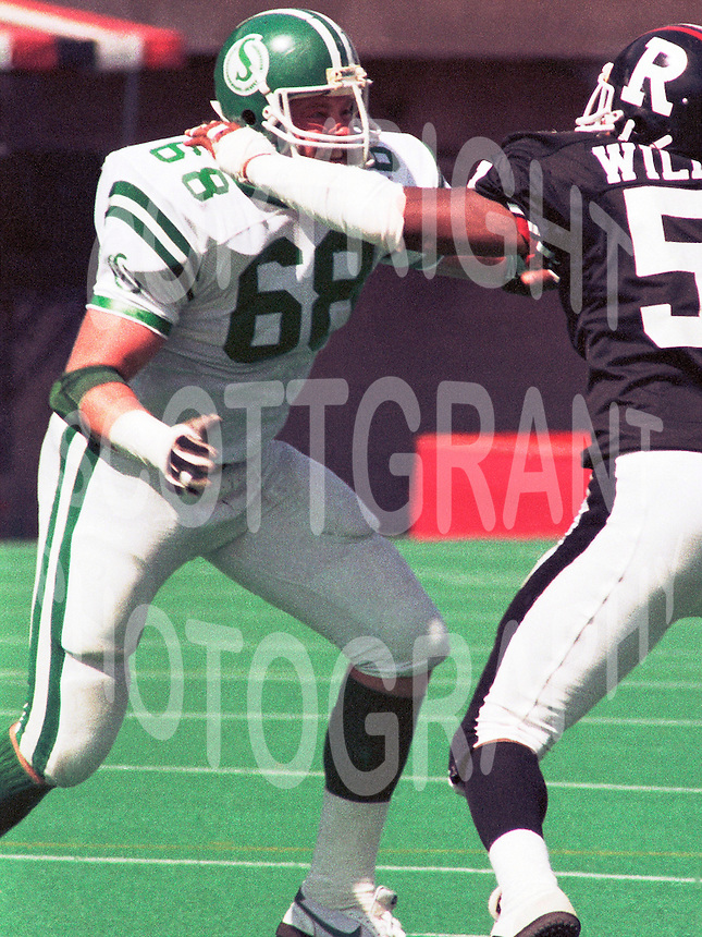 Lawrie Skolrood Saskatchewan Roughriders. Photo F. Scott Grant