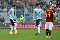Marco Parolo e Filip Djordjevic Lazio.<br /> Roma 08-11-2015 Stadio Olimpico, Football Calcio 2015/2016 Serie A.AS Roma - Lazio.  Foto Antonietta Baldassarre / Insidefoto