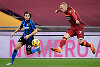 Matteo Darmian of FC Internazionale and Rick Karsdorp of AS Roma during the Serie A football match between AS Roma and FC Internazionale at Olimpico stadium in Roma (Italy), January 10th, 2021. Photo Andrea Staccioli / Insidefoto