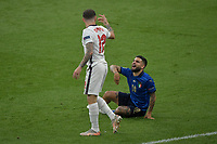 Lorenzo Insigne of Italy and Kyle Walker of England during the Uefa Euro 2020 Final football match between Italy and England at Wembley stadium in London (England), July 11th, 2021. <br /> Photo Andrea Staccioli / Insidefoto