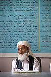 16 June 2013, Qala Wazir, Khoshal Khan, Kabul Province,  Afghanistan.  Din Mohammad , member of the shura council at Shahid Nahid High School in Kabul who are planning the future of the school direction. Much of the funding for the school, including construction, was provided by the Education Quality Improvement Program (EQUIP). The school is benefitting from EQUIP whose objective is to increase access to quality basic education, especially for girls. School grants and teacher training programs are strengthened by support from communities and private providers.  Picture by Graham Crouch/World Bank