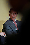 California Gov. Arnold Schwarzenegger gestures during a meeting of the 7th Annual CEO Business Climate Summit in Menlo Park, Calif., Monday, April 19, 2010. Schwarzenegger talked about his endorsement of Calif. Proposition 14 that would create a new primary system.  (AP Photo/Paul Sakuma)