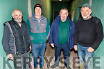 Jeremiah Regan (Causeway), Aidan Dineen (Kilmoyley/Ardfert),  Shane Savage (The Kerries)and Douglas Fitzell (Kilmoyley) at the Fat Stock sale in the Tralee Mart on Monday