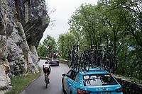 Vegard Stake Laengen (NOR/UAE-Emirates) up the Col de la Chambotte<br /> <br /> Stage 6: Saint-Vulbas to Saint-Michel-de-Maurienne (228km)<br /> 71st Critérium du Dauphiné 2019 (2.UWT)<br /> <br /> ©kramon