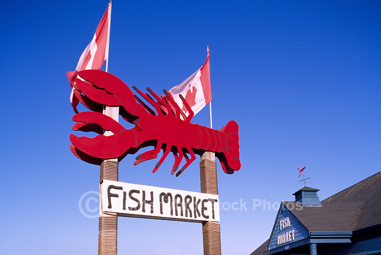 Alma, NB, New Brunswick, Canada - Lobster Fish Market Sign
