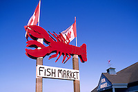 Alma, NB, New Brunswick, Canada - Lobster Fish Market Sign