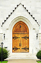 A white marble masterpiece, this doorway opens to a huge church in Vermont that is constructed entirely from white marble.
