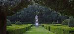 Formal garden, Tuscany, Italy
