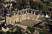 Europe/France/Centre/37/Indre-et-Loire/Langeais : Le château -Vue aérienne