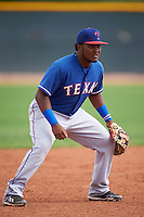Texas Rangers Luis Terrero (88) during an instructional league game against the Seattle Mariners on October 5, 2015 at the Surprise Stadium Training Complex in Surprise, Arizona.  (Mike Janes/Four Seam Images)