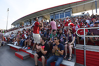 Photo Gallery from the Arkansas vs. TCU game Sunday August 23, 2015. The Razorbacks beat the Frogs 1-0 and had an attendance record of 2,337 fans.  NWA Democrat-Gazette/J.T. WAMPLER