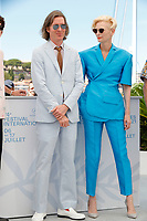 """CANNES, FRANCE - JULY 13:  Us director Wes Anderson and British actress Tilda Swinton at photocall for the film """"The French Dispatch"""" at the 74th annual Cannes Film Festival in Cannes, France on July 13, 2021 <br /> CAP/GOL<br /> ©GOL/Capital Pictures"""