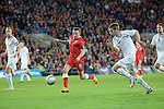 Wales's Craig Bellamy challeges Espen Ruud of Norway during their Vauxhall international friendly match at the Cardiff City Stadium in South Wales..Editorial use only.