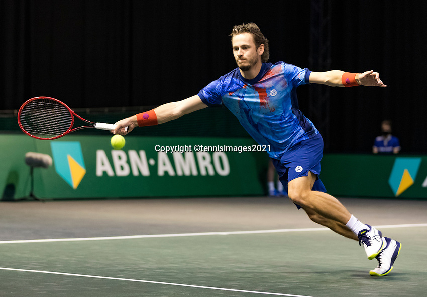 Rotterdam, The Netherlands, 3 march  2021, ABNAMRO World Tennis Tournament, Ahoy, First round doubles: Wesley Koolhof (NED).<br /> Photo: www.tennisimages.com/henkkoster