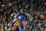 Samuel Umtiti of FC Barcelona looks on during the La Liga 2017-18 match between FC Barcelona and Real Madrid at Camp Nou on May 06 2018 in Barcelona, Spain. Photo by Vicens Gimenez / Power Sport Images