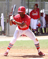 August 22, 2009:  GCL Cardinals Outfielder Virgil Hill during a game at Roger Dean Stadium Complex in Jupiter, FL.  The GCL Cardinals are the Short-Season Rookie League affiliate of the St. Louis Cardinals.  Photo By Stacy Grant/Four Seam Images