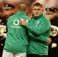 Saturday 17th November 2018 | Ireland vs New Zealand<br /> <br /> Rory Best and Tadhg Furlong before the anthems during 2018 Guinness Series between Ireland and Argentina at the Aviva Stadium, Lansdowne Road, Dublin, Ireland. Photo by John Dickson / DICKSONDIGITAL