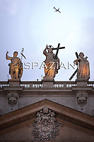 St Peter's Basilica at the Vatican  particularly  Statue of Jesus, St Peter's Basilica at the Vatican 02/10/2010...