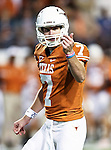 Texas Longhorns quarterback Garrett Gilbert (7) in action during the game between the Oklahoma State Cowboys and the University of Texas in Austin Texas Longhorns at the Daryl K. Royal- Texas Memorial Stadium in Austin, Texas. The Oklahoma State Cowboys defeated the Texas Longhorns 33 to 16.