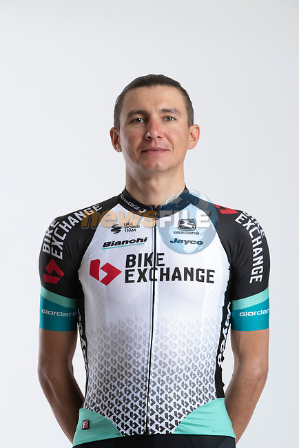 Andrey Zeits (KAZ) Team BikeExchange men's squad potrait, Spain. 22nd January 2021.<br /> Picture: Sara Cavallini/GreenEDGE Cycling | Cyclefile<br /> <br /> All photos usage must carry mandatory copyright credit (© Cyclefile | Sara Cavallini/GreenEDGE Cycling)