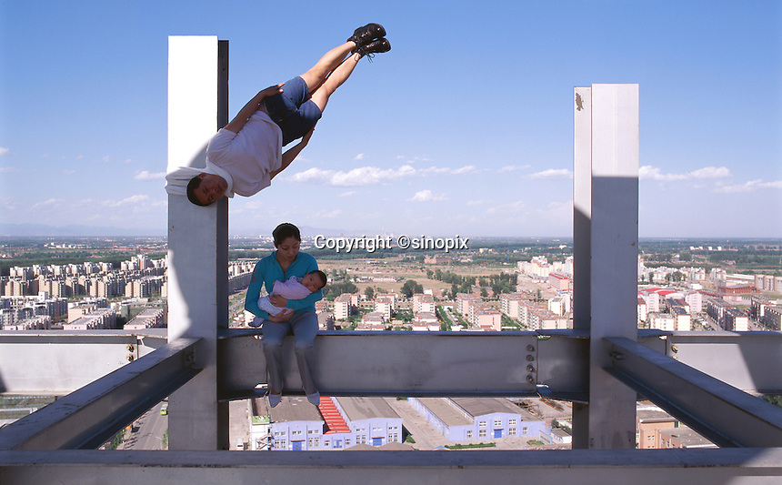 """Li Wei artwork named """"A pause for humanity"""" in Beijing...PHOTO BY SINOPIX"""