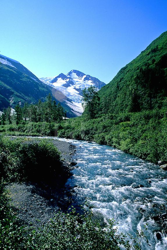 River in Portage Area of South Alaska USA