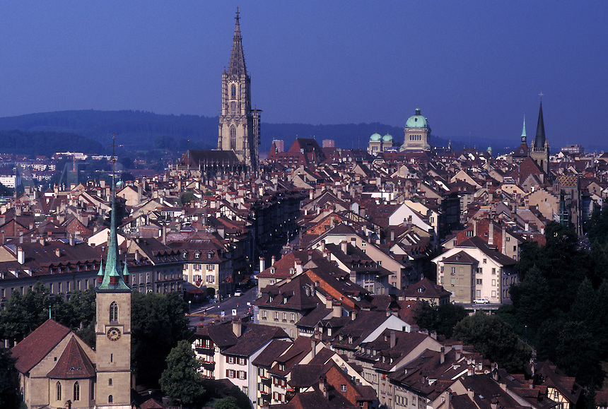 Berne, Switzerland, Bern, View of the city of Bern's Old Town.