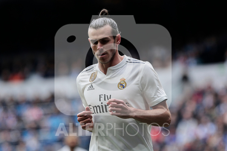 Real Madrid's Gareth Bale during La Liga match between Real Madrid and Athletic Club de Bilbao at Santiago Bernabeu Stadium in Madrid, Spain. April 21, 2019. (ALTERPHOTOS/A. Perez Meca)