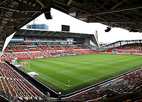 General view of Brentford FC ahead of kick-off during Brentford vs Rotherham United, Sky Bet EFL Championship Football at the Brentford Community Stadium on 27th April 2021