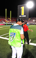 Oct. 8, 2009; Las Vegas, NV, USA; Detailed view of the UFL chain crew during the game between the California Redwoods against the Las Vegas Locomotives in the inaugural United Football League game at Sam Boyd Stadium. Las Vegas defeated California 30-17. Mandatory Credit: Mark J. Rebilas-