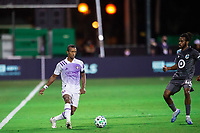 LAKE BUENA VISTA, FL - AUGUST 06: Nani #17 of Orlando City SC dribbles the ball during a game between Orlando City SC and Minnesota United FC at ESPN Wide World of Sports on August 06, 2020 in Lake Buena Vista, Florida.