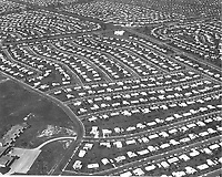 Aerial view of Levittown, Pennsylvania. ed Latcham, ca. 1959.<br /> <br /> Credit: National Archives and Records Administration