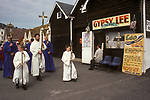 BLESSING THE SEA HASTINGS SUSSEX 1990s UK
