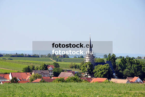 Blick auf Gabsheim mit Kath. Pfarrkirche St. Alban