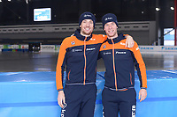 SPEEDSKATING: 06-12-2018, Tomaszów Mazowiecki (POL), ISU World Cup Arena Lodowa, Jos de Vos (NED), Louis Hollaar (NED), ©photo Martin de Jong