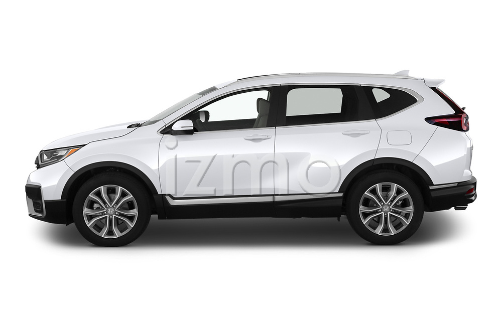 Car Driver side profile view of a 2020 Honda CR-V Touring 5 Door SUV Side View