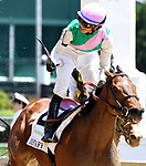 LOUISVILLE, KY - MAY 06: Jose Ortiz, aboard Paulassilverlining #2, reacts after winning the Humana Distaff Stakes  on Kentucky Derby Day at Churchill Downs on May 6, 2017 in Louisville, Kentucky. (Photo by Jessica Morgan/Eclipse Sportswire/Getty Images)