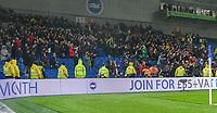 Burnley fans celebrate victory over Brighton & Hove Albion<br /> <br /> Photographer David Horton/CameraSport<br /> <br /> The Premier League - Brighton and Hove Albion v Burnley - Saturday 9th February 2019 - The Amex Stadium - Brighton<br /> <br /> World Copyright © 2019 CameraSport. All rights reserved. 43 Linden Ave. Countesthorpe. Leicester. England. LE8 5PG - Tel: +44 (0) 116 277 4147 - admin@camerasport.com - www.camerasport.com