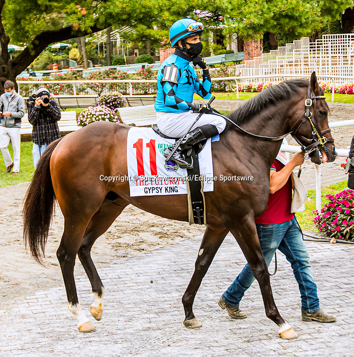 OCT11, 2020 : Gypsy King in the Grade 3 Futruity Stakes, for 2-year olds on the turf, at Belmont Park, Elmont, NY.  Sue Kawczynski/Eclipse Sportswire/CSM